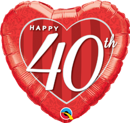 40th Anniversary Foil Helium Balloon